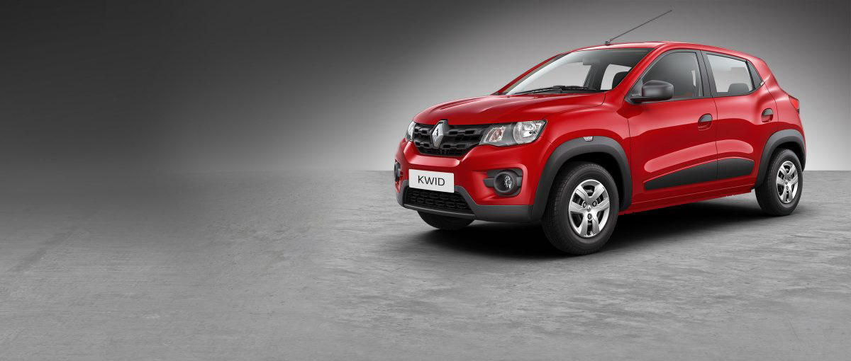 Kwid vehicle red